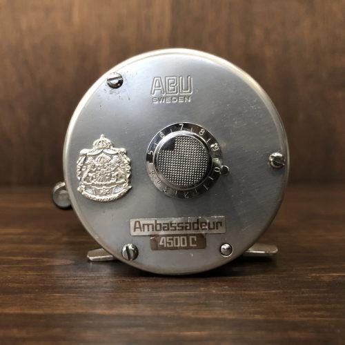 Abu Ambassadeur 4500C Bait Casting Reel 770900 アブ アンバサダー 4500C シルバー 1977年 ベイトキャスティングリール オリジナル ビンテージ