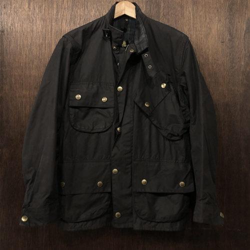 Barbour Beacon Jacket Black C34 バブアー ビーコン ワックス ライダース ジャケット ブラック サイズ C34 ブラックウォッチタータンライナー 英国製 オリジナル ビンテージ