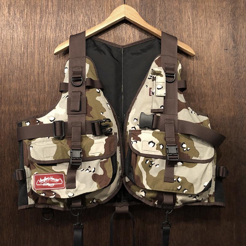Anglers House Life Floating Vest Jacket Sand Camo Deadstock アングラーズハウス フローティング ライフベスト ジャケット サンドカモフラージュ デッドストック