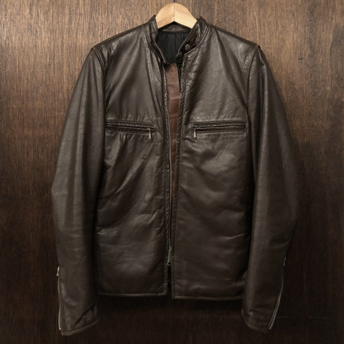 Brooks Single Riders Leather Jacket Dark Brown 34 ブルックス シングル ライダース レザー ジャケット サイズ34 ダークブラウン ビンテージ