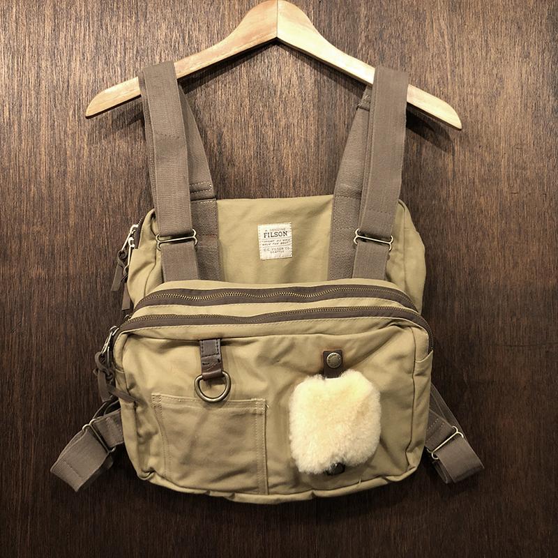 Filson Fly Fishing Tackle Chest Pack Vest Tan フィルソン フライフィッシング タックル チェスト パック ドライフィニッシュタンカラー ビンテージモデル オリジナル