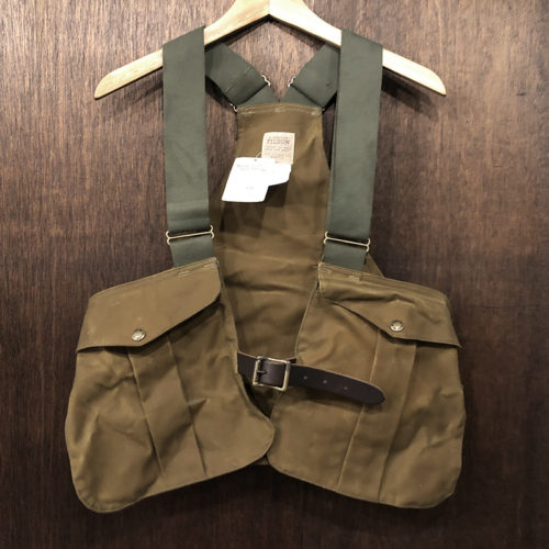 Filson Tin Game Bag Strap Vest Reg NOS With Paper Tag フィルソン ティンクロス ゲームバッグ ストラップ ベスト タンカラー オリジナル 未使用 ペーパータグ付属 デッドストック