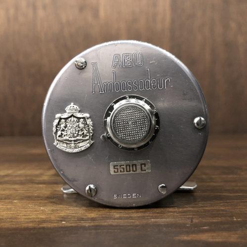 Abu Ambassadeur 5500C 1973 Big A Bait Casting Reel FT730601 アブ アンバサダー 5500C ビッグA ブルーグレー 初期 ベイトキャスティングリール オリジナル