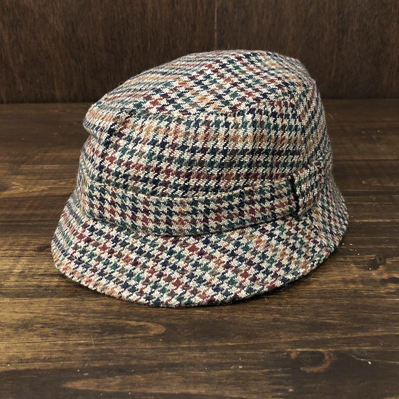 Barbour Gun club tweed Bucket Hat XXL Mint バブアー ガンクラブ ツイード バケット ハット ブラウンベースカラー 3ワラント オリジナル ビンテージハット