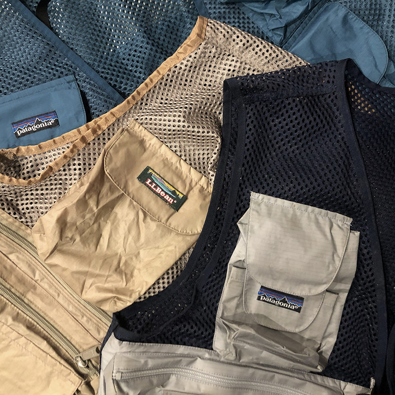 Old Mesh Fishing Vest