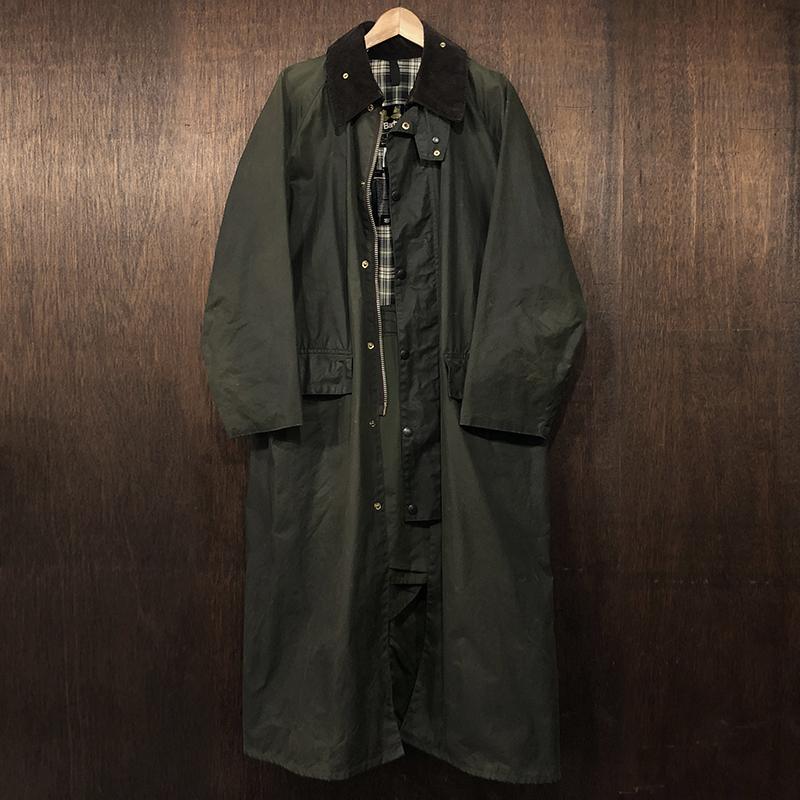 Barbour Burghley Coat 3Warrant Sage C40 バブアー バーレー コート ジャケット 3ワラント セージ 英国製 ビンテージ オリジナル