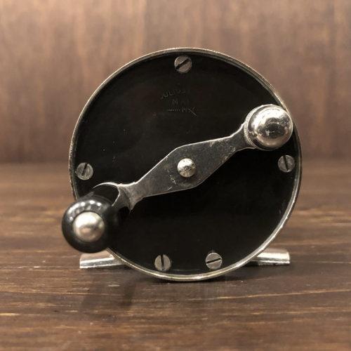 Julius Vomhofe Maker Nickel Silver Hard Rubber Size3-1/2 Fly Reel ジュリアス ボンホフ ニッケルシルバー ハードラバー トラウト サーモン アンティーク フライリール