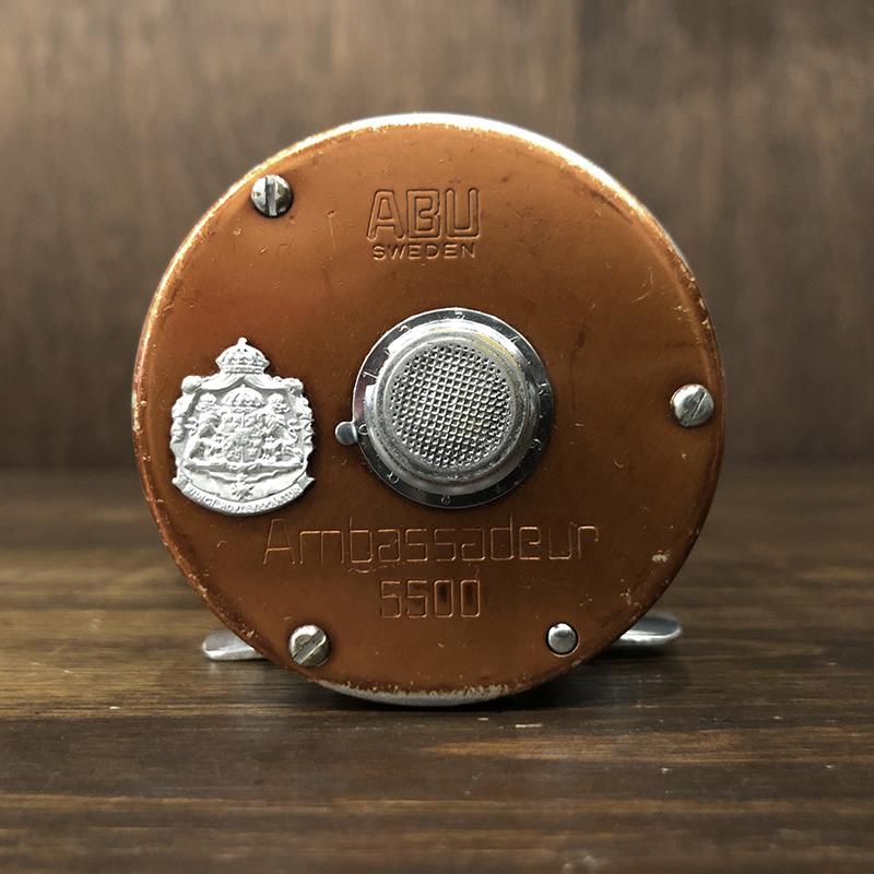 Abu Ambassadeur 5500 Copper Brown Bait Casting Reel 760100 アブ アンバサダー 5500 コパー ブラウン ベイトキャスティングリール 76年 初期オリジナル