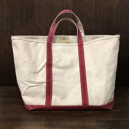 L.L. Bean Boat and Tote White Red Canvas Tote Bag エルエルビーン ボート アンド トート ホワイト レッド キャンバストートバッグ