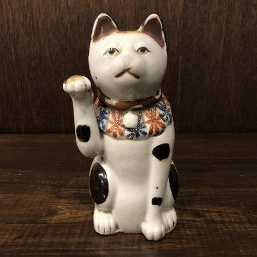 招き猫 古瀬戸 約21cm 当時物 骨董品 ジャパン アンティーク オリジナル
