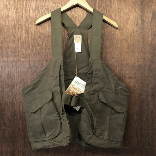 Filson Oiled Hunting Strap Vest OT Deadstock With Papertag フィルソン オイルドクロス ハンティング ストラップ ベスト オッターグリーン ペーパータグ付属 デッドストック品
