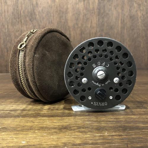 Orvis CFO III Screw Back Fly Reel With Leather Reel Case オービス シーエフオー 3 スクリューバック マイナスねじ フライリール 初期モデル スウェードレザーケース付属 ビンテージ オリジナル