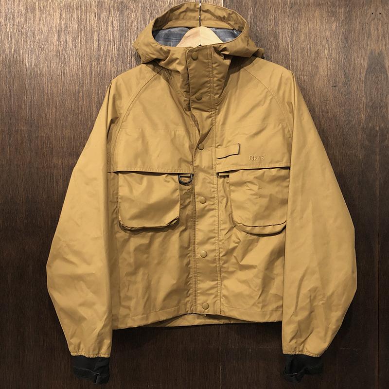 Orvis Fishing Gore-Tex All Weather Wading Jacket Camel Mint オービス ゴアテックス フライフィッシング ウェーディング ジャケット キャメルカラー Sサイズ ミントコンディション