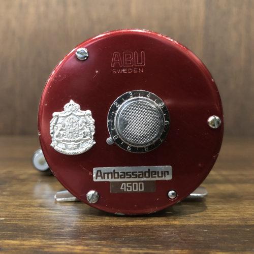 Abu Ambassadeur 4500 1978 Cherry Red Bait Reel アブ アンバサダー 4500 チェリーレッド ベイトキャスティングリール ビンテージ オリジナル