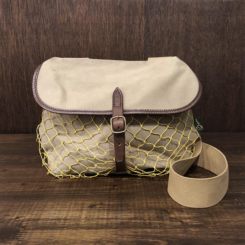 Brady Canvas Small Game & Fishing Shoulder With Net Bag ブレディ キャンバス スモール ゲーム フィッシング ショルダーバッグ 旧モデル 英国製