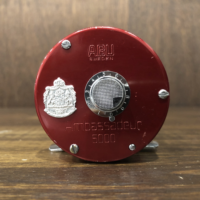 Abu Ambassadeur 5000 Red Bait Casting Reel 770405 アブ アンバサダー ベイトキャスティングリール オリジナル ビンテージ