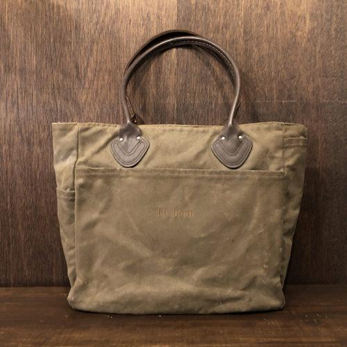 L.L. Bean Oild Finish Canvas Leather Handle Tote Bag エルエルビーン オイルド フィニッシュ キャンバス レザーハンドル トートバッグ ビンテージ