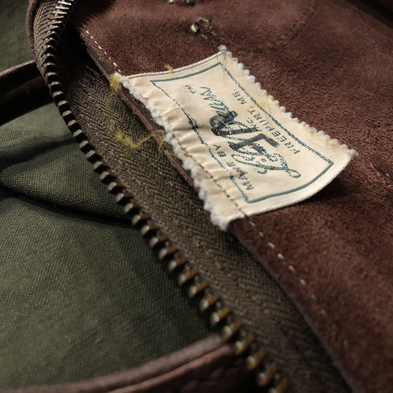 L.L. Bean All Leather Tag Tote