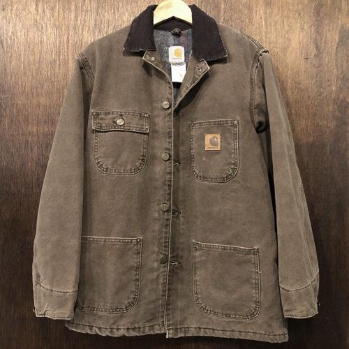 Carhartt Dark Brown Duck Canvas Chore Coat S Made in USA カーハート ダークブラウン ダック キャンバス チョアコート オリジナルUSA製 ビンテージ