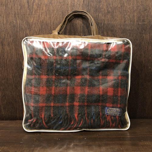 Pendleton Robe in A Bag Red Gray Tartan ペンドルトン ローブ イン エーバッグ レッドグレータータン ブランケット 専用バッグ ビンテージ品