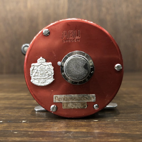 Abu Ambassadeur 4500 Cherry Red Bait Casting Reel 771100 チェリーレッド ベイトキャスティングリール ビンテージ オリジナル